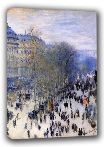 Monet, Claude: Boulevard des Capucines. Fine Art Landscape Canvas. Sizes: A3/A2/A1 (00752)
